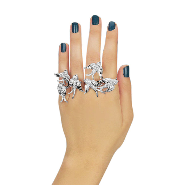 Rize Four Finger Ring