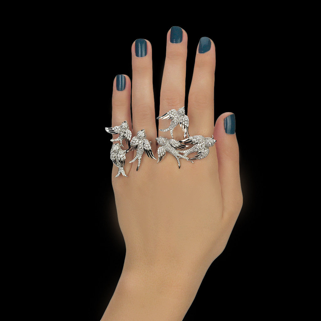Tropical Rize Four Finger Ring