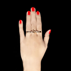 Three Finger Belt Ring - Pink
