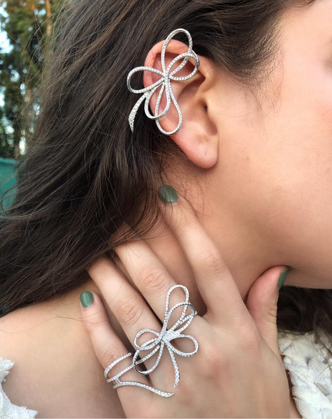 Emma Bow Ear Cuff
