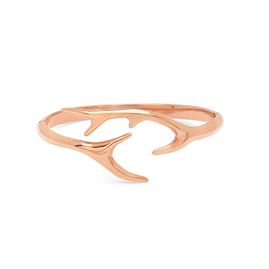 Pink Antlers Cuff Bracelet
