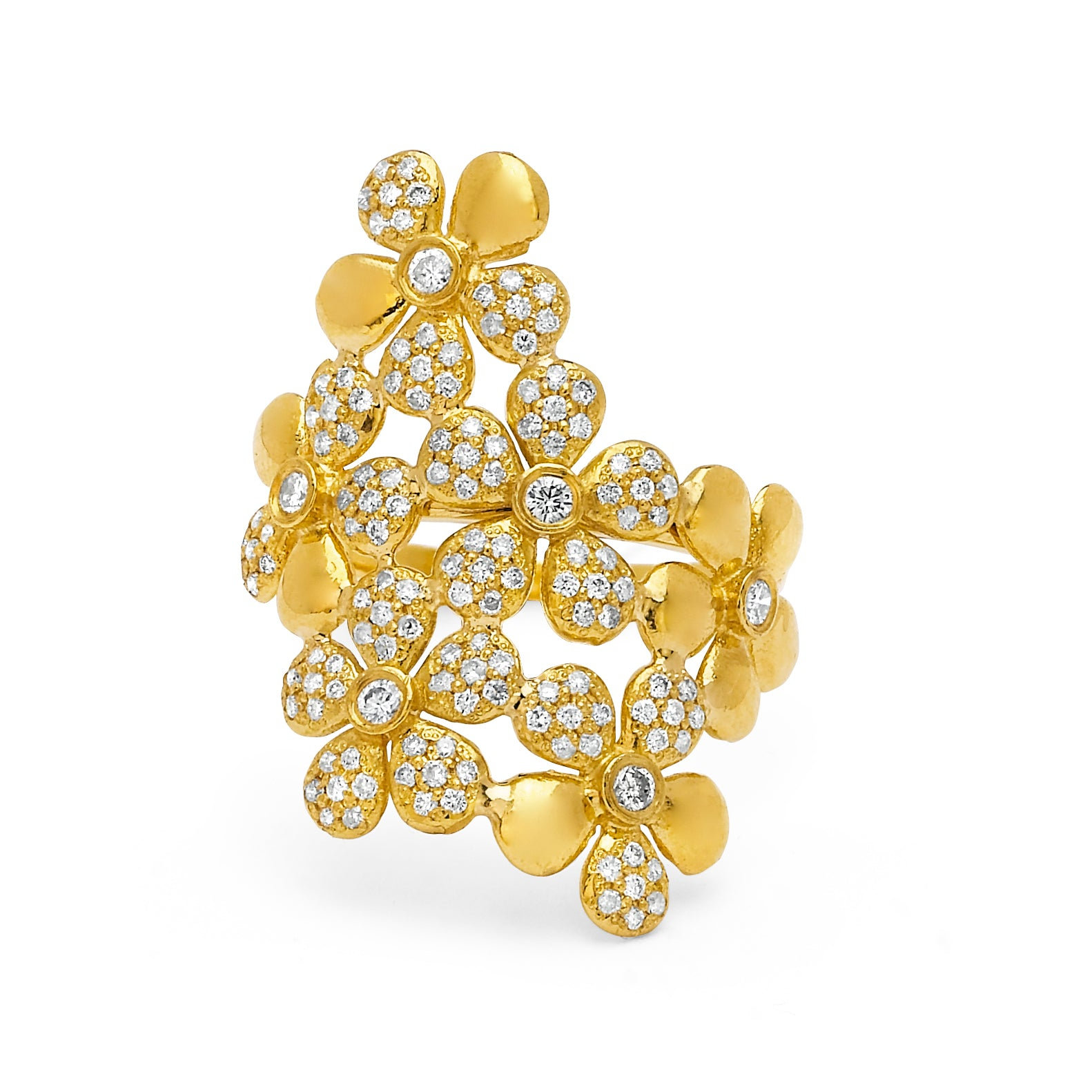 Yellow Marquerite Bouquet Thumb Ring