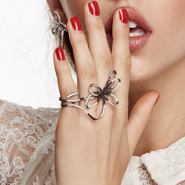 White Diamond Belle Ring