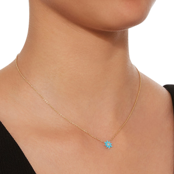 Twinkle Hard Stone Necklace - Four Colors