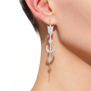 Star Moon Pin Earring