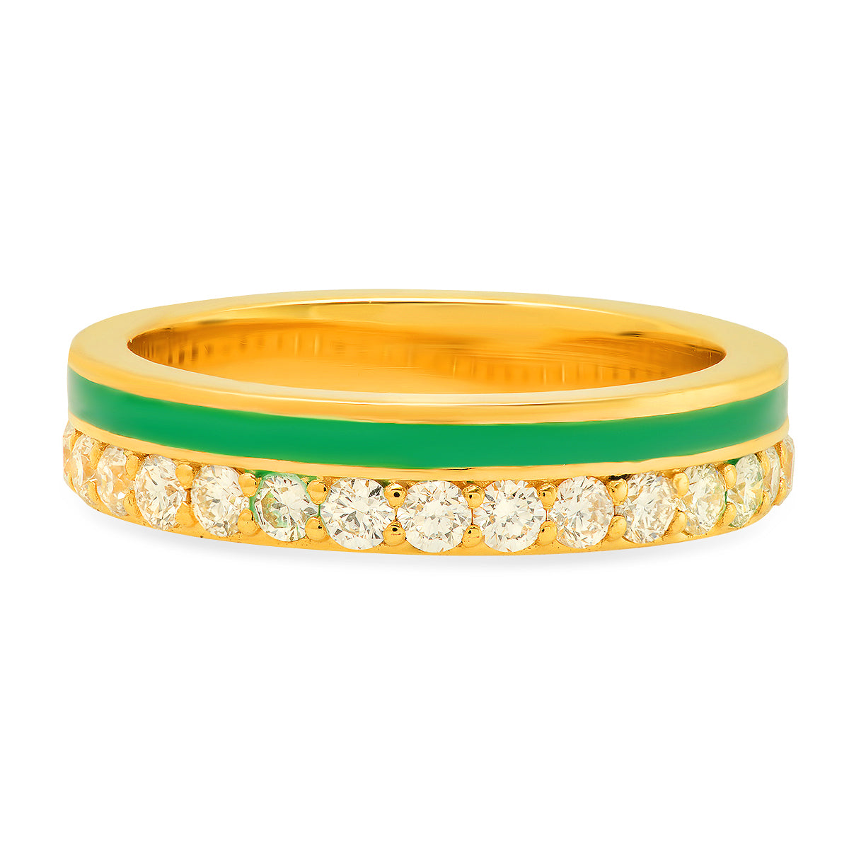 Enamel Diamond Band - Ten Colors