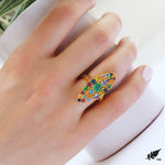 Multicolor  Marquise  Ring