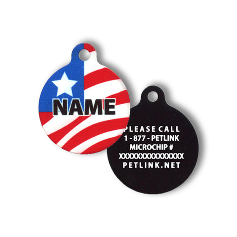 4th of July Collar Tags