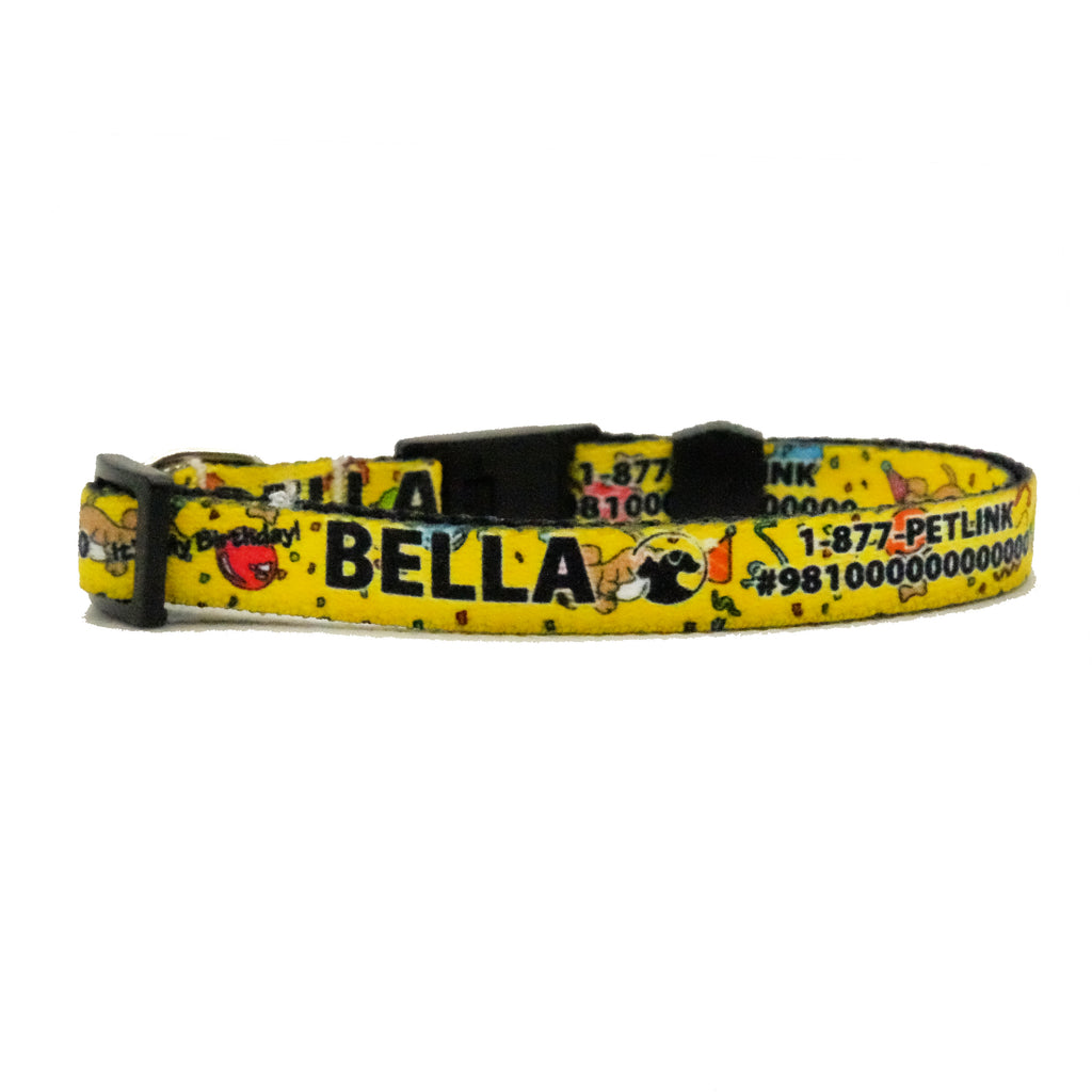 Personalized Birthday Cat Collars