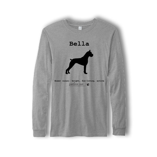 Personalized Breed Definition Long-Sleeve Shirt