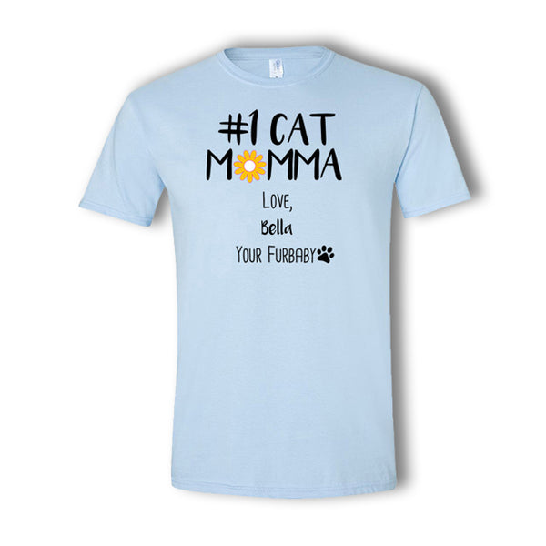 Personalized #1 Cat Momma T-Shirt