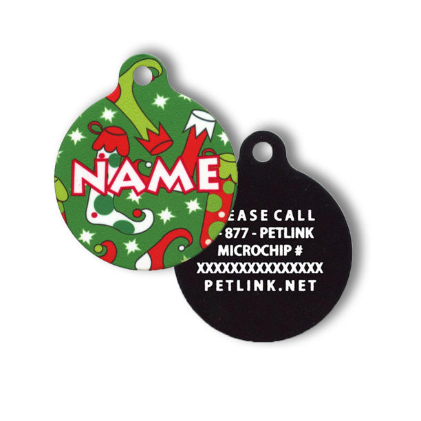 Winter Holiday Collar Tags (2 styles available)