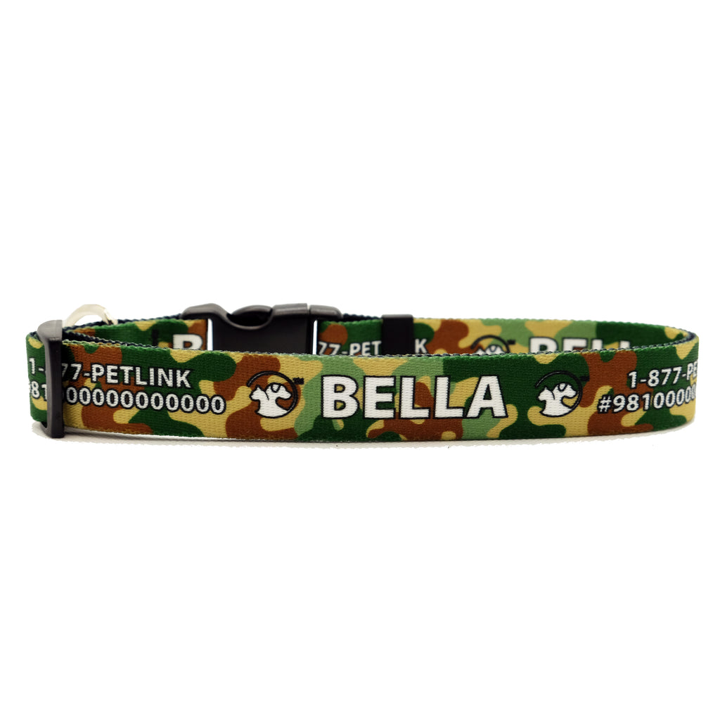 Personalized Camouflage Dog Collar (3 colors available)
