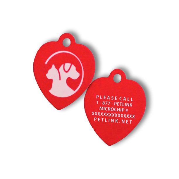 HD Heart-Shaped Collar Tag