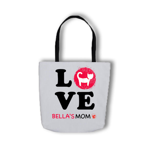 Personalized LOVE Tote Bag