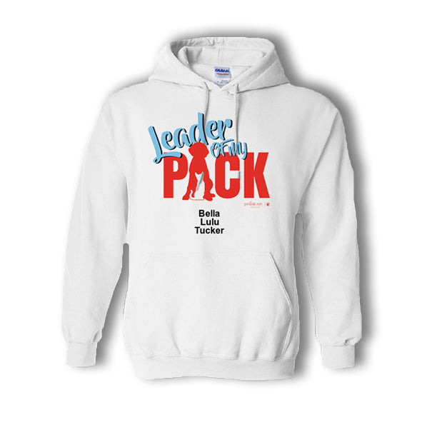 Leader of My Pack Personalized Multi-Pack Hoodie (2 styles available)