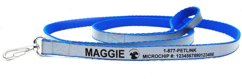 Personalized Reflective Leashes (2 colors available)