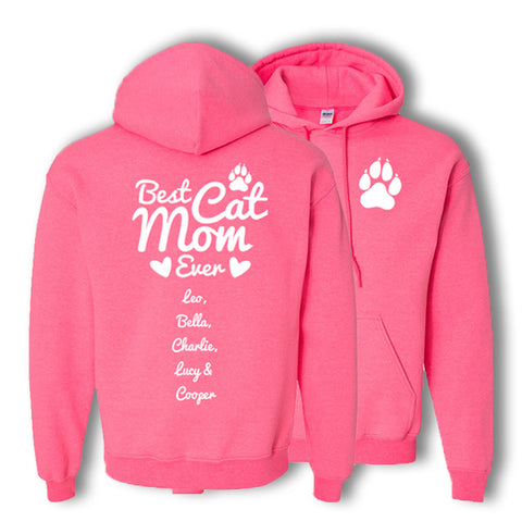 Personalized Best Cat Mom Hoodie