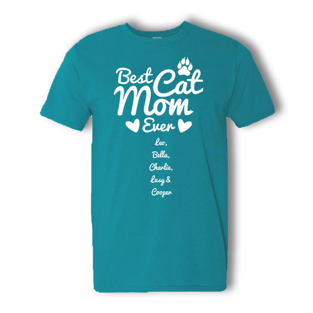 Personalized Best Cat Mom T-Shirt