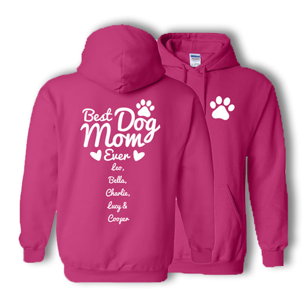 Personalized Best Dog Mom Hoodie