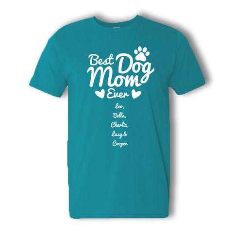 Personalized Best Dog Mom T-Shirt