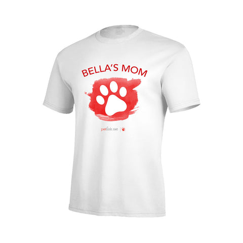 Personalized Paw Print T-Shirt