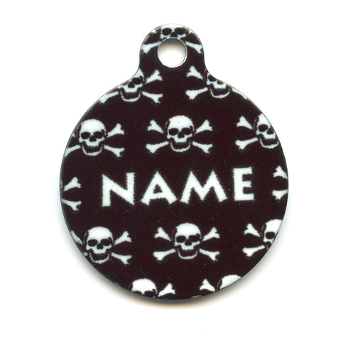 Black Skulls Collar Tag