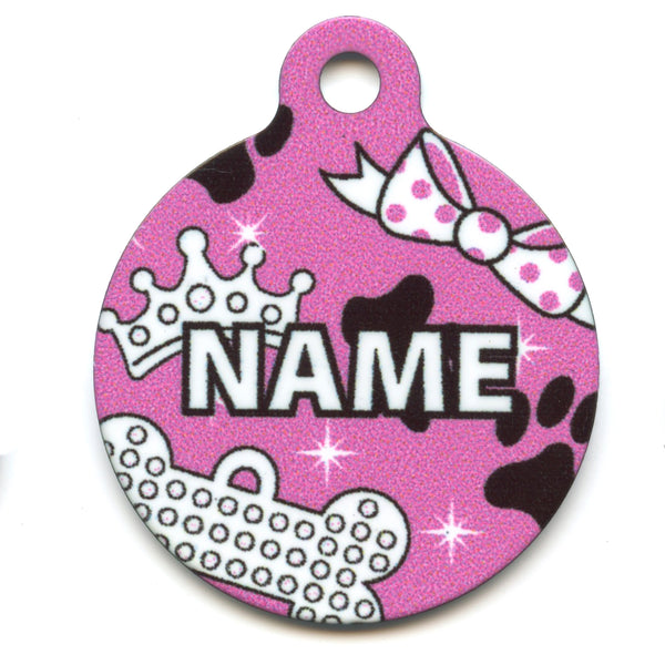 Diva Dog Collar Tag