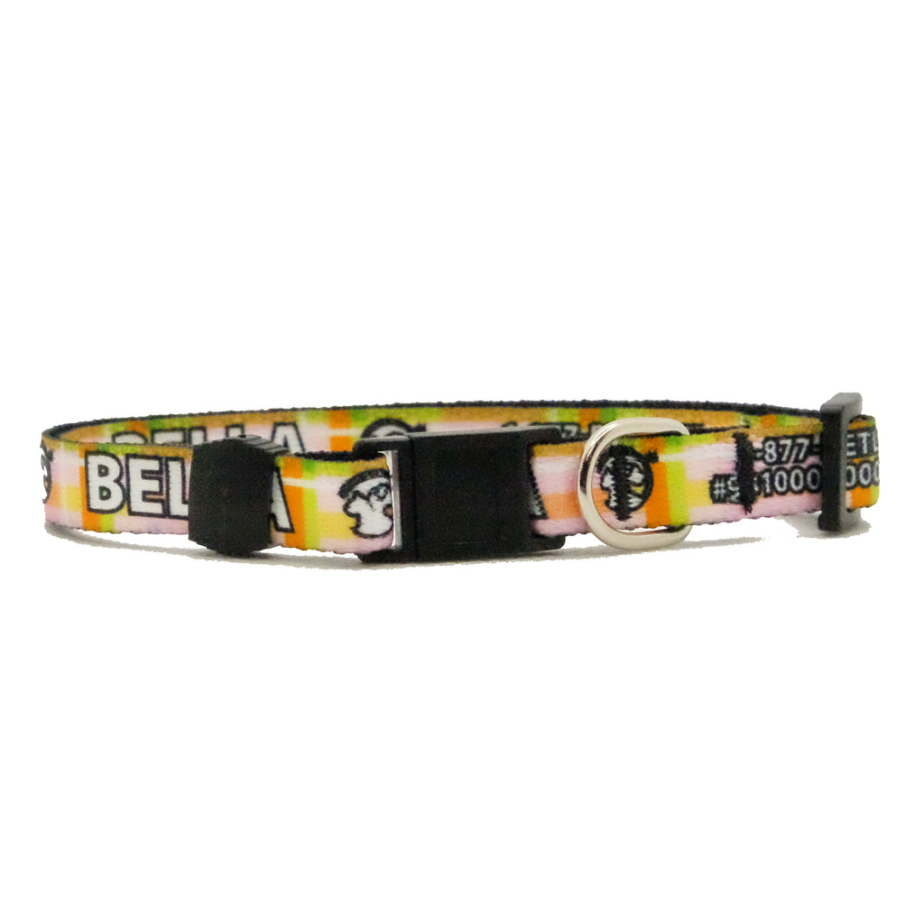 Personalized Plaid Break-Away Cat Collars