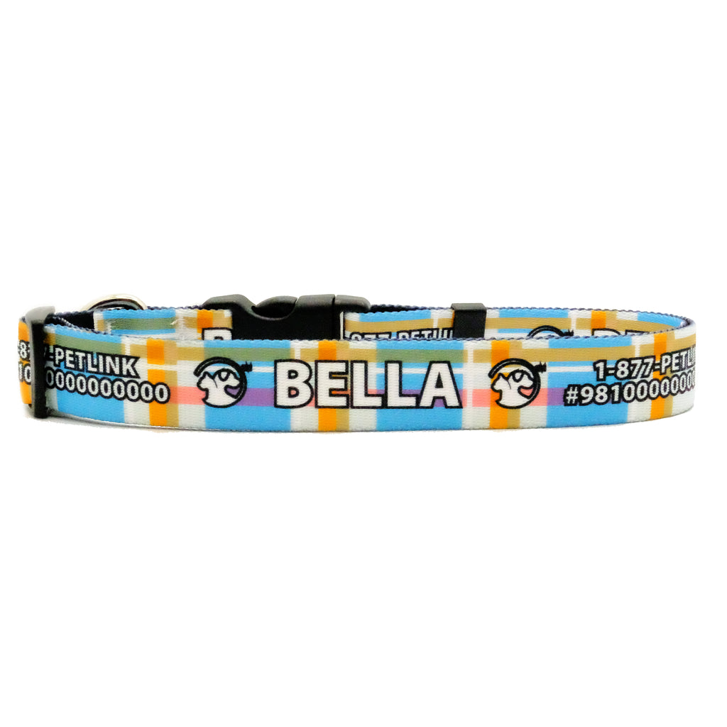 Personalized Plaid Dog Collars
