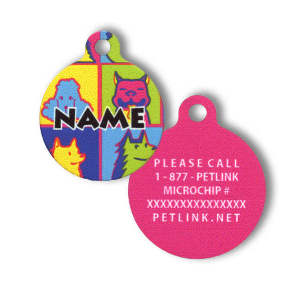 Designer HD Collar Tags (20 designs available)