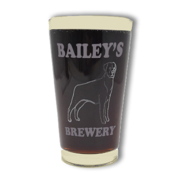 Personalized Breed Pint Glass (set of 2)
