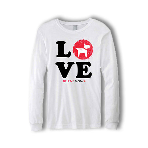 Personalized LOVE Long-Sleeve T-Shirt (3 designs & 2 colors available)
