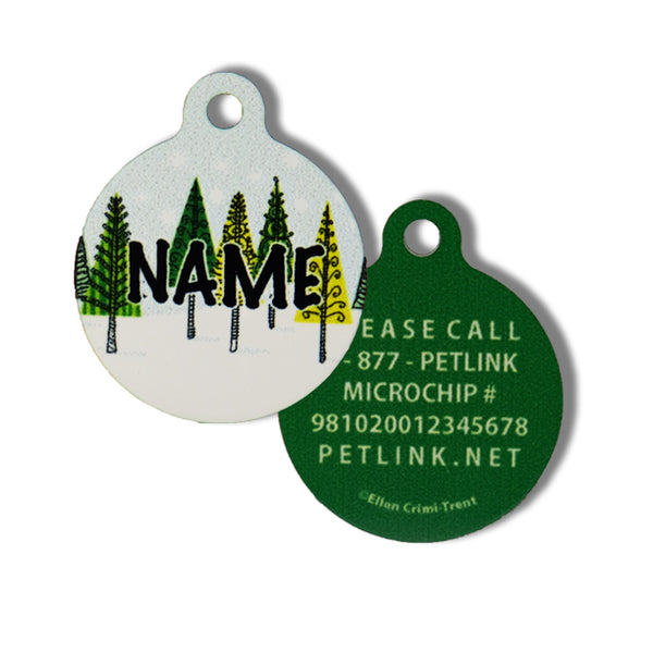 Winter Holiday Collar Tags