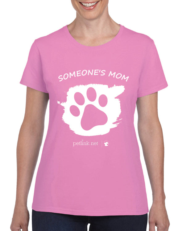 Personalized Solid Pink Ladies T-Shirt