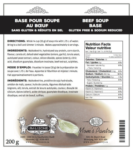 Beef Soup Base Gluten Free Sodium Reduced Mom S Pantry