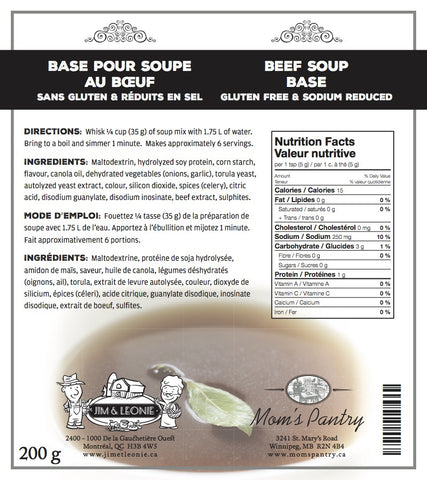 Beef Soup Base  (Gluten Free & Sodium Reduced)