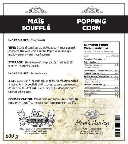 Mom's Own Popping Corn