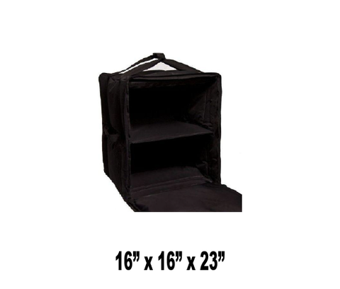 "OH-PBF10/1416S - Semi Rigid Large Pizza Bag Reduces Crushed Boxes, for 14"" & 16"" Pizzas, Side Loading, Black (Packed 2 Per Case -- Unit Price: $51.99)"