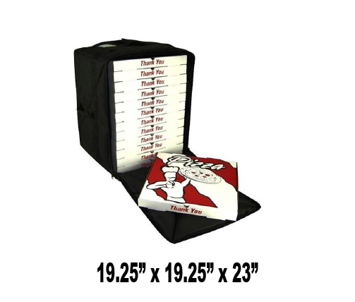 "OH-PF10/18 - Pizza Bag, Large Capacity for 18"" Pizzas, Side Loading, Black (Packed 2 Per Case -- Unit Price: $46.99)"