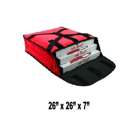 "PV3-24R - Stain Resistant Pizza Bag, Holds 3-4 24"" Pizzas, Side Loading, Red (Packed 2 Per Case -- Unit Price: $38.99)"