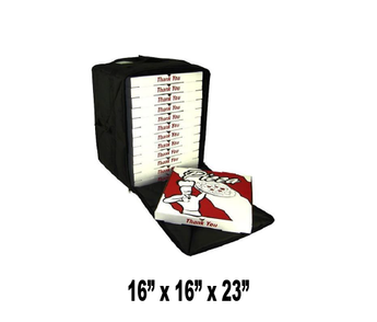 "OH-PF10/16 - Pizza Bag, Large Capacity for 14"" or 16"" Pizzas, Side Loading, Black (Packed 2 Per Case -- Unit Price: $40.99)"