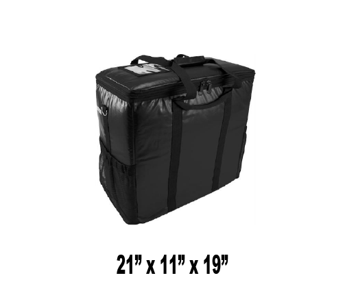CALL TO BACK ORDER - 888-254-9453 -- OH-LGSBS - Large Hot/Cold Insulated Clam Shells or Food Delivery Bag (Packed 2 Per Case -- Unit Price: $53.99)