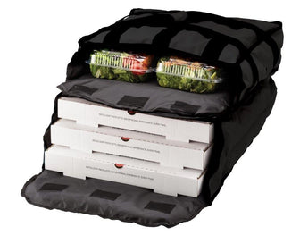 "PV3-TCB - Twin Compartment Pizza Bag, Stain Resistant, Holds 3-4 16-18"" Pizzas, Side Loading, Black (Packed 4 Per Case -- Unit Price: $39.99)"