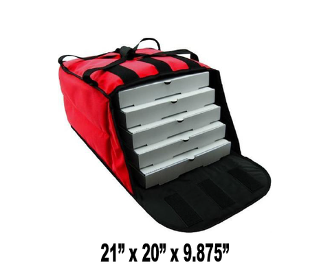 "PV4-20R - Stain Resistant Pizza Bag, Holds 4-5 20"" Pizzas, Side Loading, Red (Packed 4 Per Case -- Unit Price: $28.99)"