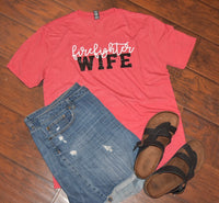 Firefighter Wife Red Vneck