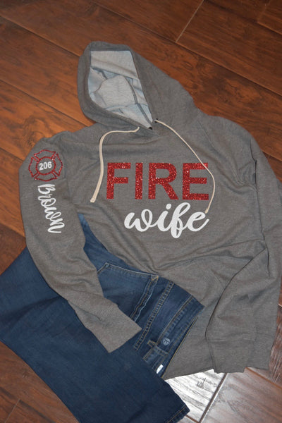 Fire Wife-Long Sleeve Tee or hoodie