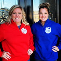 Quarter zip pullovers