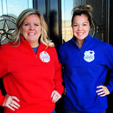 Fire & Police Wife 1/4 zip pullovers