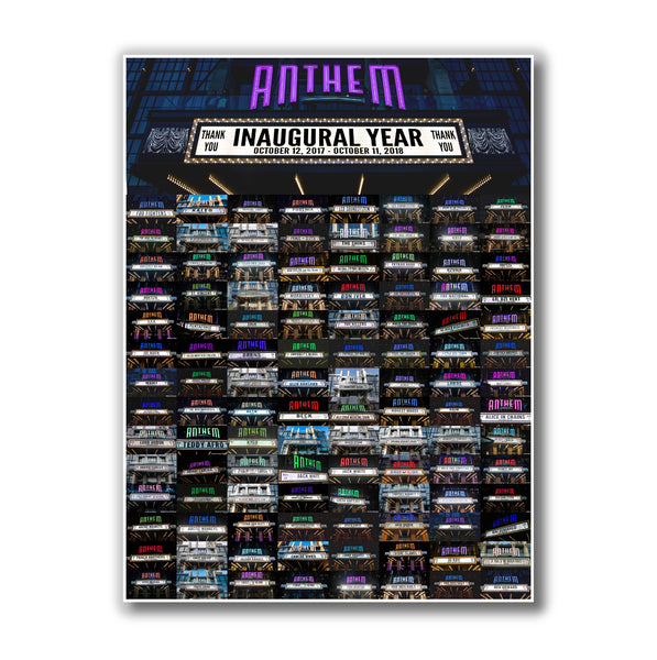 The Anthem Inaugural Year Poster